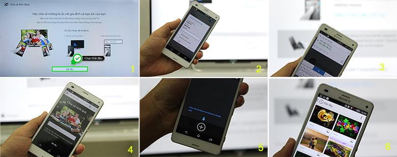 Cách chiếu màn hình điện thoại lên tivi các bước qua Photo Share